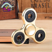Puzzle Toys Tri-Spinner Fidget Toy Aluminum EDC Hand Spinner For Autism and ADHD 5 Styles 1pcs Anxiety Stress Relief Focus Toys