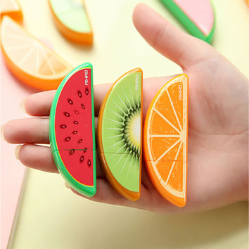 1Pcs Cute Fruit Correction Tape Plastic Material Escolar Kawaii Stationery Office School Supplies