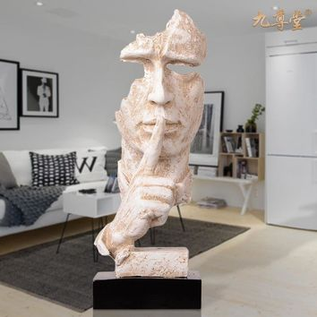 European Modern Minimalist Living Room Decoration Decoration Crafts Home Furnishing Abstract Art Sculpture Figures