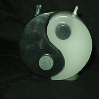 Yin Yang 2 piece Candle Set.. scented... beeswax/paraffin