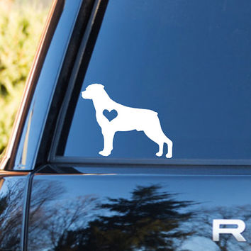 Rottweiler Heart Decal | Rottweiler Mom Decal | Rottweiler Dog Mom Decal | Dog Dad Decal | Dog Family Decal | Love Sticker | Love Decal |204