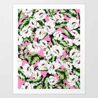 White Spring Flowers Art Print by Smyrna