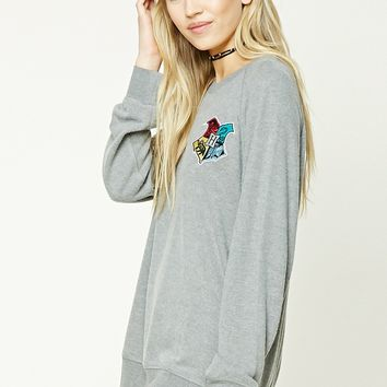 Hogwarts Patched Sweatshirt