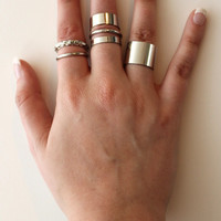 Mixed Silver Rings Set
