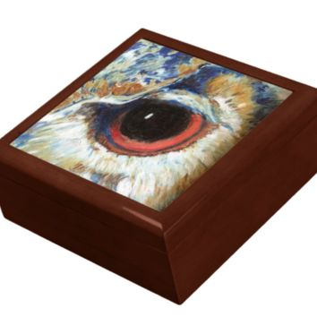 Keepsake/Jewelry Box - Owl Eye - Lacquer Box