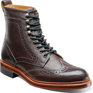 Madison II Wing Tip Boot by Stacy Adams