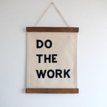 DO THE WORK. - Framed Wall Banner (customizable!)