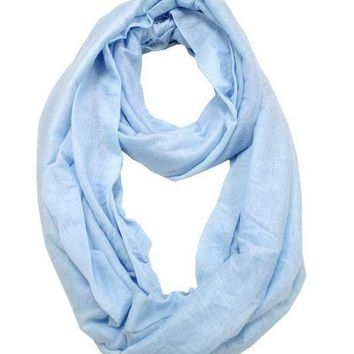 Baby Blue Jersey Infinity Scarf
