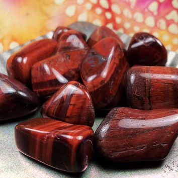 DRAGON'S EYE (Red Tigereye) - Stone of Self-Worth - Vitality, Motivation & Willpower to Take Care of Yourself - Root Chakra
