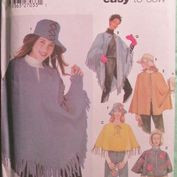 Sale Uncut Simplicity Sewing Pattern, 5349! Large to XL/Women's/Misses/ Capelet/Capes/Ponchos/Purses/Hats/Mittens/Sun hats/Gardening Gloves