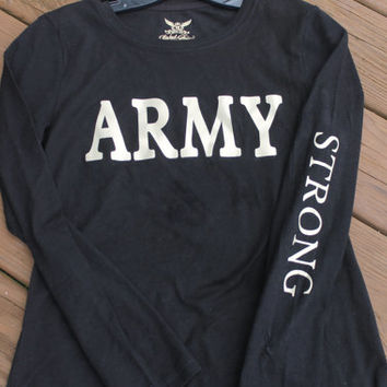 ARMY Strong with Gold lettering