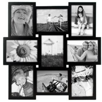 "Malden International Designs Crossroads 9 Opening 5x7"" Collage Black Picture Frame"