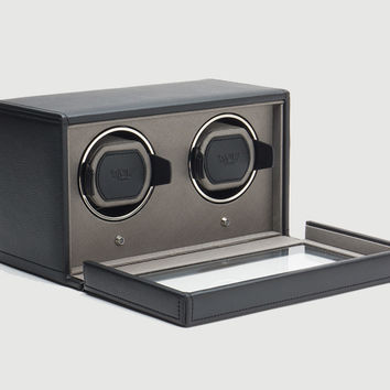 Wolf 461203 Double Cub Watch Winder With Cover Black