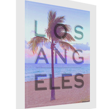Los Angeles Beach Filter Matte Poster Print Portrait - Choose Size