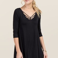 Camille Lattice Shift Dress