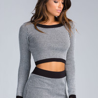 Knit Chic Ribbed Knit Crop Top