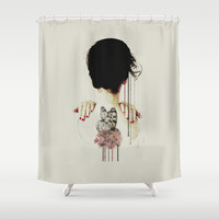Backage Shower Curtain by Galen Valle
