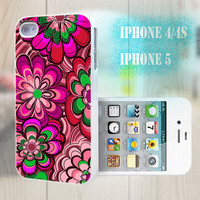 unique iphone case, i phone 4 4s 5 case,cool cute iphone4 iphone4s 5 case,stylish plastic rubber cases cover, gorgeous pink floral   bp2182
