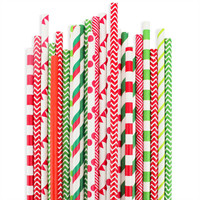 Christmas Paper Straw Assortment