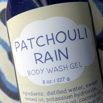 Patchouli Rain Body Wash Gel ~ Shower Gel ~ Liquid Body Soap ~ Body Shampoo