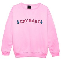 Cry Baby Sweater Top Women's Fun Kawaii