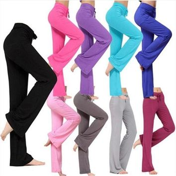 ESBONHS Jaswell Women Pants Latin Dance Trousers Modal Ladies Girls Fitness Exercise Practise Soft Sweatpants Loose Joggers