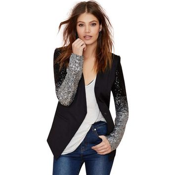 Black with silver sequins Jackets