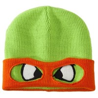 Men's Teenage Mutant Ninja Turtle Knit Cap with Mask - Michelangelo Orange