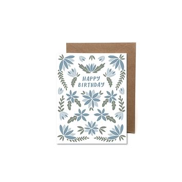 HEARTSWELL FLORAL HAPPY BIRTHDAY CARD