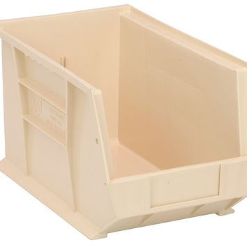 Quantum Storage Systems QUS242 Ultra Stack And Hang Bin Ivory - Pack of 12