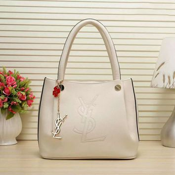 YSL Women Shopping Bag Leather Satchel Crossbody Handbag Shoulder Bag G-LLBPFSH