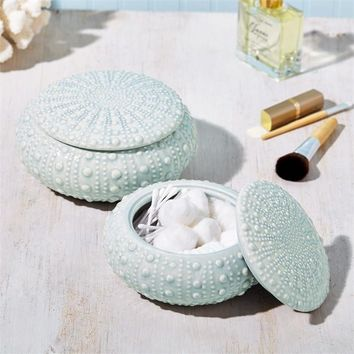 Seafoam Sea Urchin Trinket Box