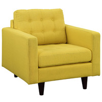 Modway Empress Upholstered Armchair In Sunny