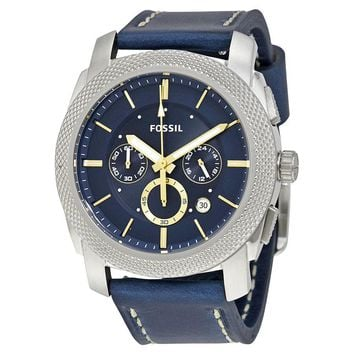 Fossil Machine Chronograph Blue Dial Mens Watch FS5262