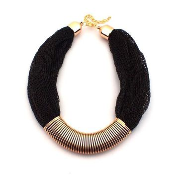 MANILAI Chunky Collar Rope Chain Statement Necklaces