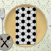 Soccer Ball Pattern Sports Cool Rubber Tough Case iPhone 4 and 4s and iPhone 5 and 5s and 5c and iPhone 6 and 6 Plus +