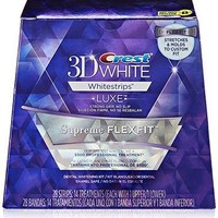 Crest 3D Luxe Whitestrips Supreme Flexfit Teeth Whitening Kit, 14 Count