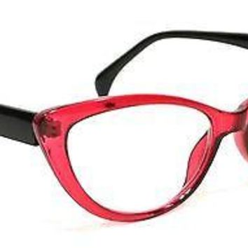 WOMEN CAT EYE READING GLASSES SCARLETTE STYLE VINTAGE FRAME READERS