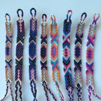 Friendship Bracelets with Metallic Accents
