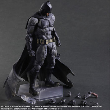 SQUARE ENIX Play Arts KAI Batman v Superman Dawn of Justice NO.1 Batman PVC Action Figure Collectible Model Toy 25cm KT2897