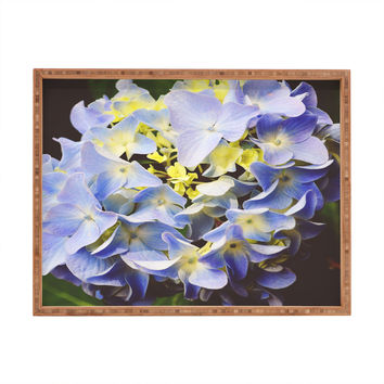 Allyson Johnson Hydrangea Flower Rectangular Tray