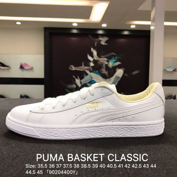 Puma Suede Classic Basket White Casual Shoes Sneaker - 362892-02