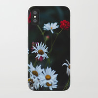 White & Red iPhone Case by Jessie Flori