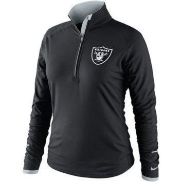 VONR3I Nike Oakland Raiders Women's Conversion Half Zip Performance Jacket - Black