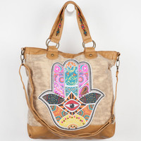 T-Shirt & Jeans Hamsa Hand Tote Bag Natural One Size For Women 23508142301