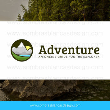 OOAK Premade Logo Design - Mountain Landscape - Perfect for an adventure sports gear shop or a blog about nature tourism