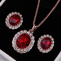 Red Emerald Crystal Set