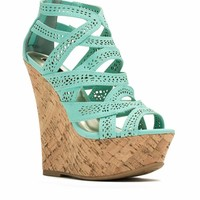 Crisscrossed Paths Faux Nubuck Wedges - GoJane.com