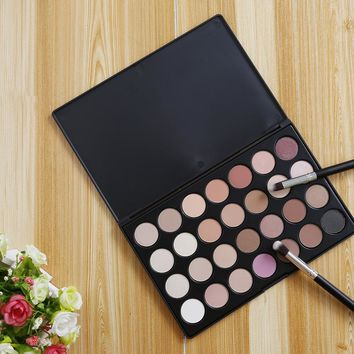 28 Color Neutral Warm Eyeshadow Palette Makeup Cosmetic Kit