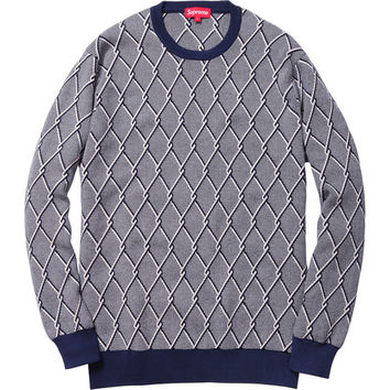 Supreme: Chain Link Sweater - Navy